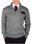 GREY WOOL CARDIGAN
