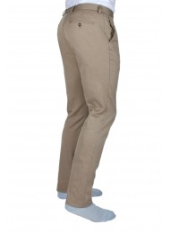 FINEST COTTON BROWN BASKET WEAVE TROUSERS