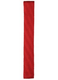 SILK RED KNITTED TIE