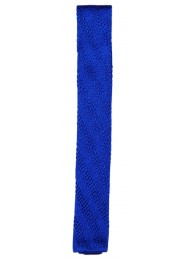 SILK ROYAL BLUE KNITTED TIE