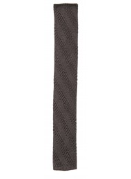 SILK DARK GREY KNITTED TIE