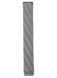 SILK SILVER KNITTED TIE