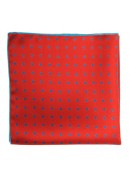 HAND MADE IN ENGLAND SILK POCKET SQUARE