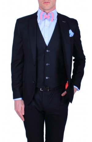 FINEST SUPER 160's NAVY SUIT JACKET