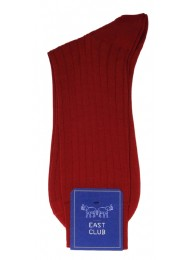 COTTON BURGUNDY SOCKS