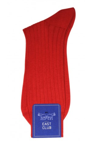 COTTON DARK RED SOCKS