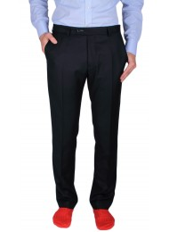 ULTRA-SOFT SUPER 130's NAVY WOOL TROUSERS
