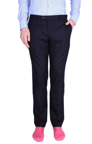 FINEST SUPER 160'S NAVY TROUSERS
