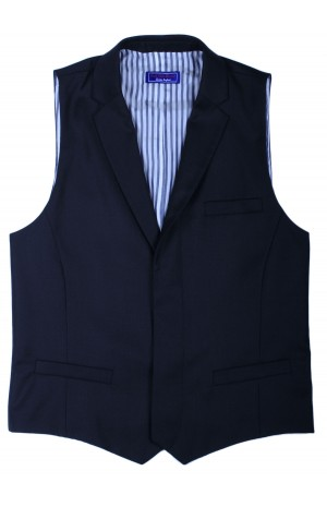 ULTRA-SOFT SUPER 130's NAVY WOOL WAIST COAT