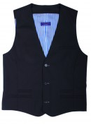 FINEST SUPER 160'S NAVY WAIST COAT