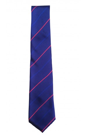 HAND FINISHED IN ENGLAND SILK TIE - BLUE, PINK