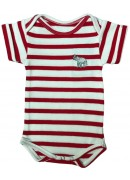 RED AND WHITE STRIPED BABY SUIT