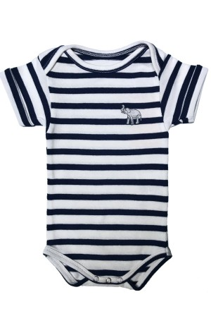 NAVY AND WHITE SRIPED BABY SUIT