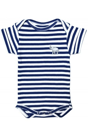 ROYAL BLUE AND WHITE SRIPED BABY SUIT