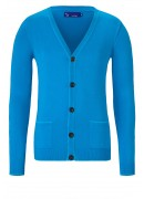 SUPER SOFT COTTON AQUA BLUE CARDIGAN