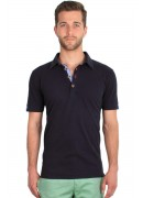 SUPER SOFT COTTON NAVY BLUE POLO
