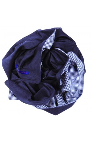 HAND MADE IN ENGLAND BLUE AND NAVY SCARF
