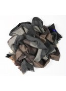 ITALIAN VIRGIN WOOL GREY SCARF