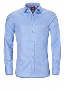 BLUE HERRINGBONE COTTON SHIRT