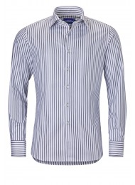 GREY STRIPED COTTON SHIRT