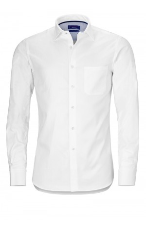 WHITE HERRINGBONE COTTON SHIRT
