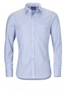 BLUE DOUBLE STRIPED COTTON SHIRT