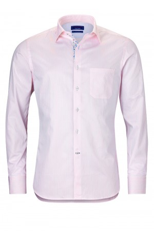 PINK STRIPED COTTON SHIRT
