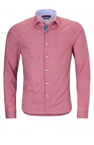 RED COTTON SHIRT