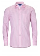FINEST EGYPTIAN COTTON PINK STRIPED SHIRT