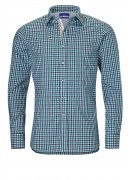 FINEST PORTUGUESE COTTON GREEN CHECKED SHIRT