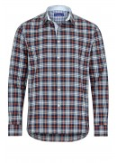 ORANGE AND BLUE CHECKED CASUAL SHIRT