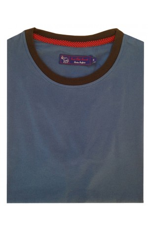 COTTON ROYAL BLUE ROUND NECK T-SHIRT