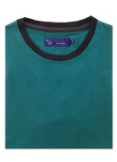 COTTON TURQUOISE ROUND NECK T-SHIRT