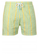 PORTUGUESE YELLOW AND AQUA SWIMMING SHORTS