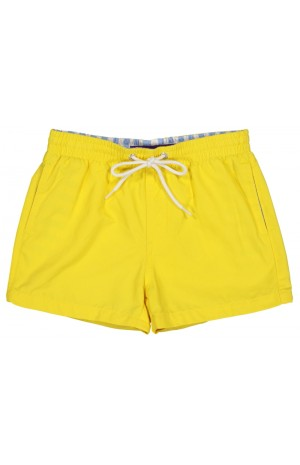 YELLOW, KIDS SWIM SHORTS