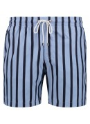 BLUE AND NAVY STRIPED SWIM SHORTS