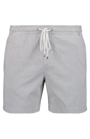 GREY STRIPED, SEERSUCKER SWIM SHORTS