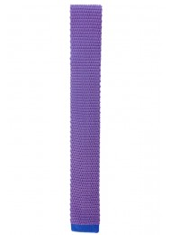 SILK LILAC WITH BLUE KNITTED TIE