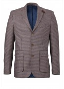 ITALIAN WOOL MIX SMALL CHECK JACKET