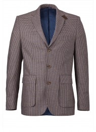 ITALIAN WOOL BLEND SMALL CHECK JACKET