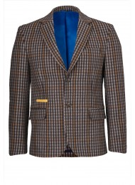 ITALIAN CASHMERE AND WOOL MIX HEAVY CHECK JACKET